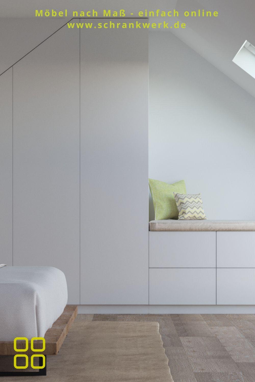 Schlafzimmer Dachschrage Schrankwerk De In 2020 Schlafzimmer Dachschrage Schrank Dachschrage Dachschragenschrank