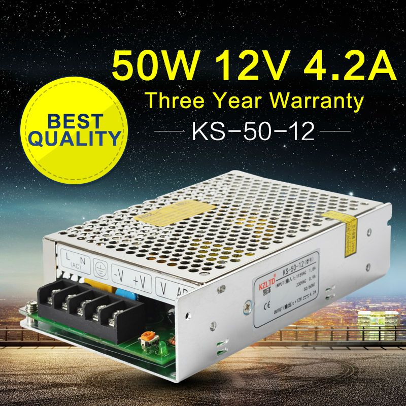220 To 12v Dc Power Supply Led Converter 12v 50w Adjustable Switching Power Supply For Cctv Radio Led Modul Led Power Supply Ups Power Supply Computer Projects
