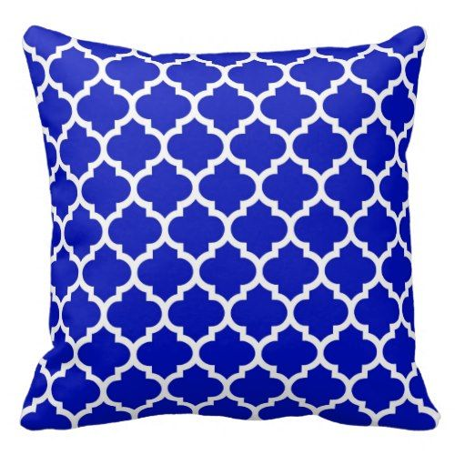 Royal Blue Decorative Pillows