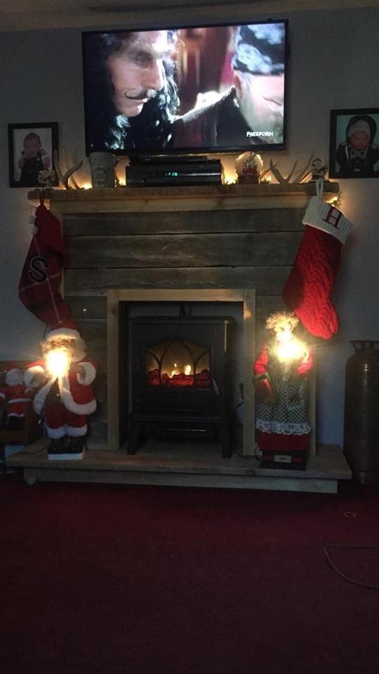 Not Really Repurposed But Fabulous Idea A Little Electric Heater With A Fireplace Mantle Built Around It Faux Fireplace Diy Faux Fireplace Fireplace Heater Electric fireplace heater with mantle