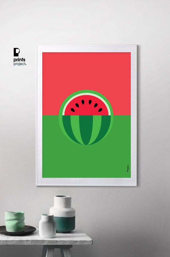 Attrayant Print Store · Watermelon Art Print Kitchen ...