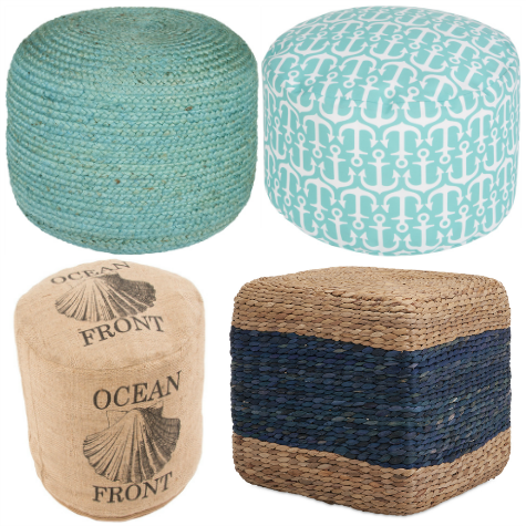 timeless design 4a25d 67cb3 Awesome Coastal & Nautical Ottomans | LOVE IT!! in 2019 ...