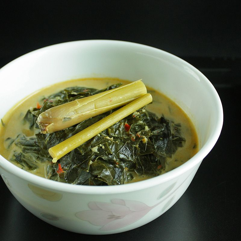 Gulai Daun Singkong Cassava Yam Leaves Curry Recipe Cooking Yummy Vegetable Recipes Cassava