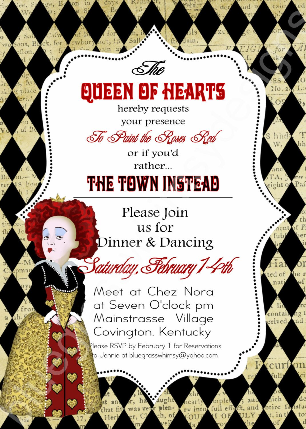 QUEEN OF HEARTS/ Alice in Wonderland- Valentine\'s Day Party ...