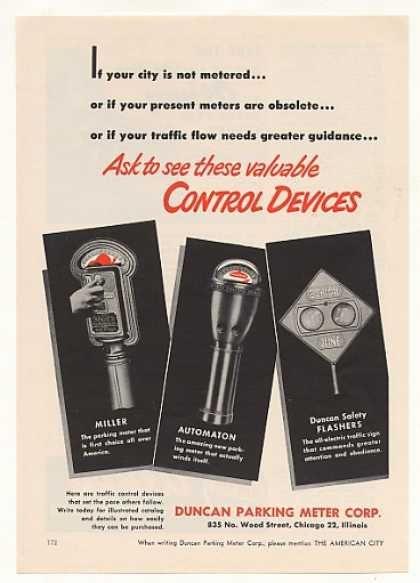 Duncan Miller Automaton Parking Meters (1950)