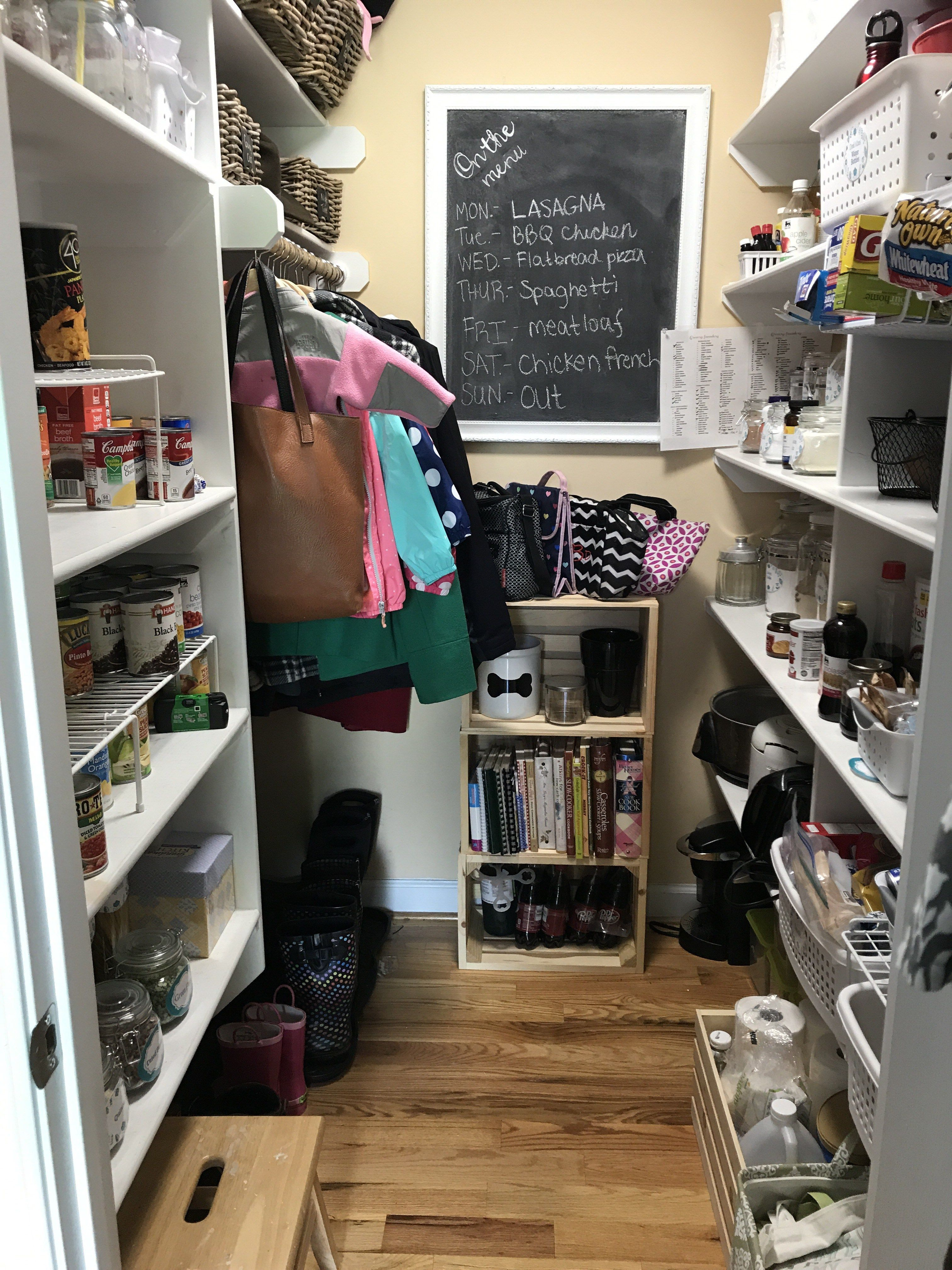 Our pantry used to be very well organized, but we got a little lazy. And then we got even lazier. Things weren't put away, things weren't paired down and thrown away, and things were ju…