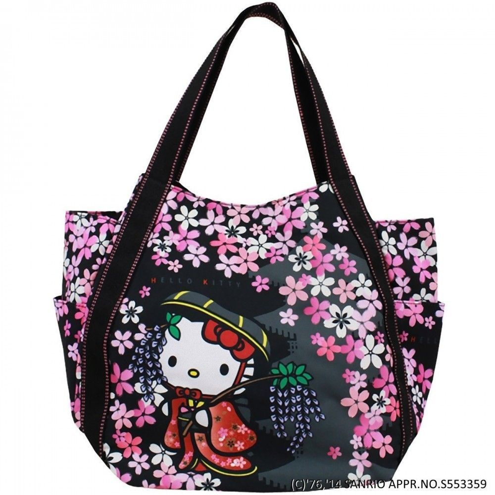 7d5b71244eb6 Hello Kitty x Dearisimo Kimono Tote Shoulder Bag Handbag L Pures Japan  T3177