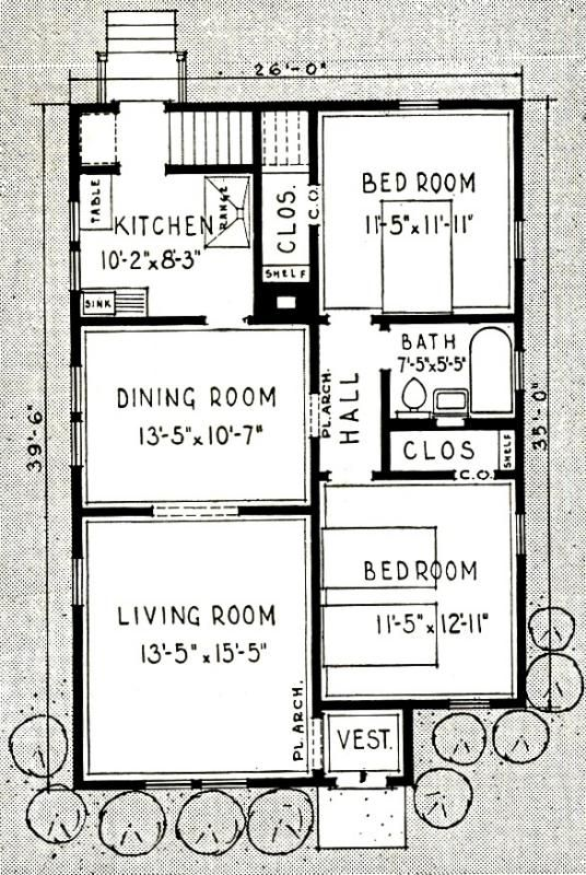 The Bellewood A Happy Combination Sears Modern Homes Little House Plans Vintage House Plans House Floor Plans