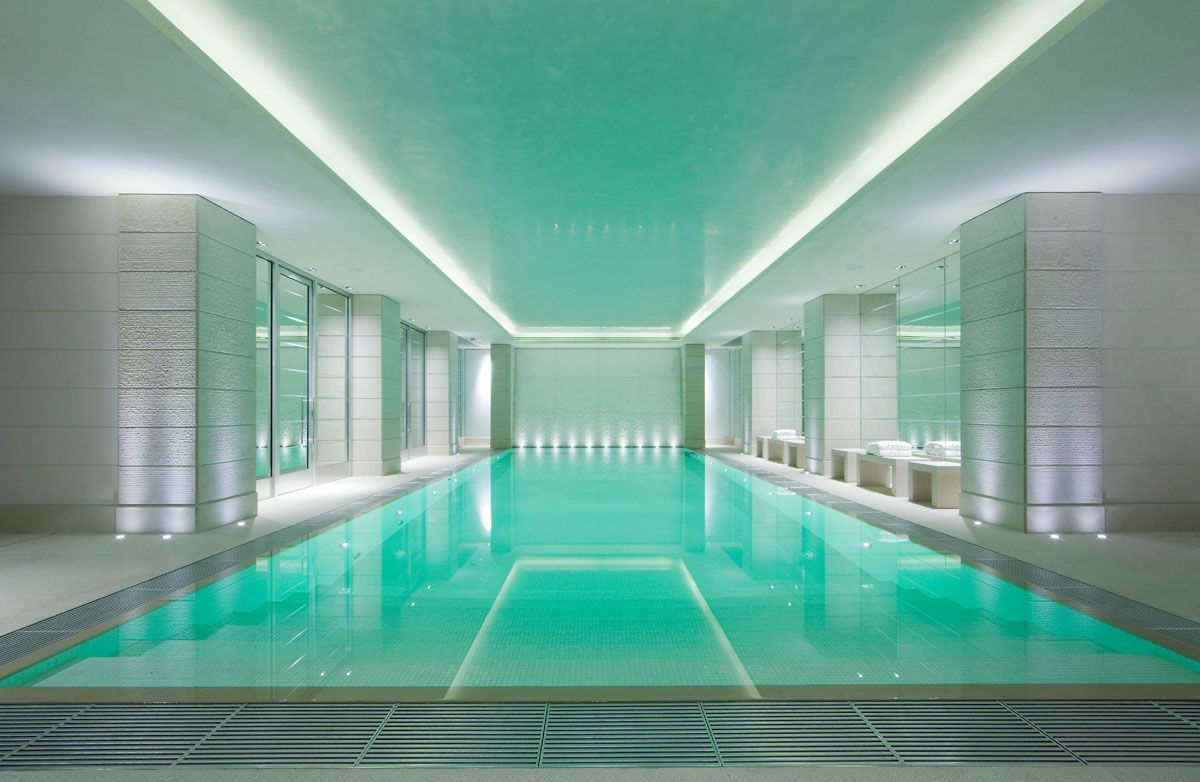 Luxury Contemporary Home Indoor Swimming Pool