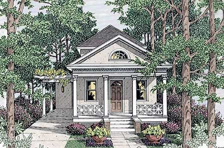 Plan 62086V Classic Narrow Lot House Plan Narrow lot house plans