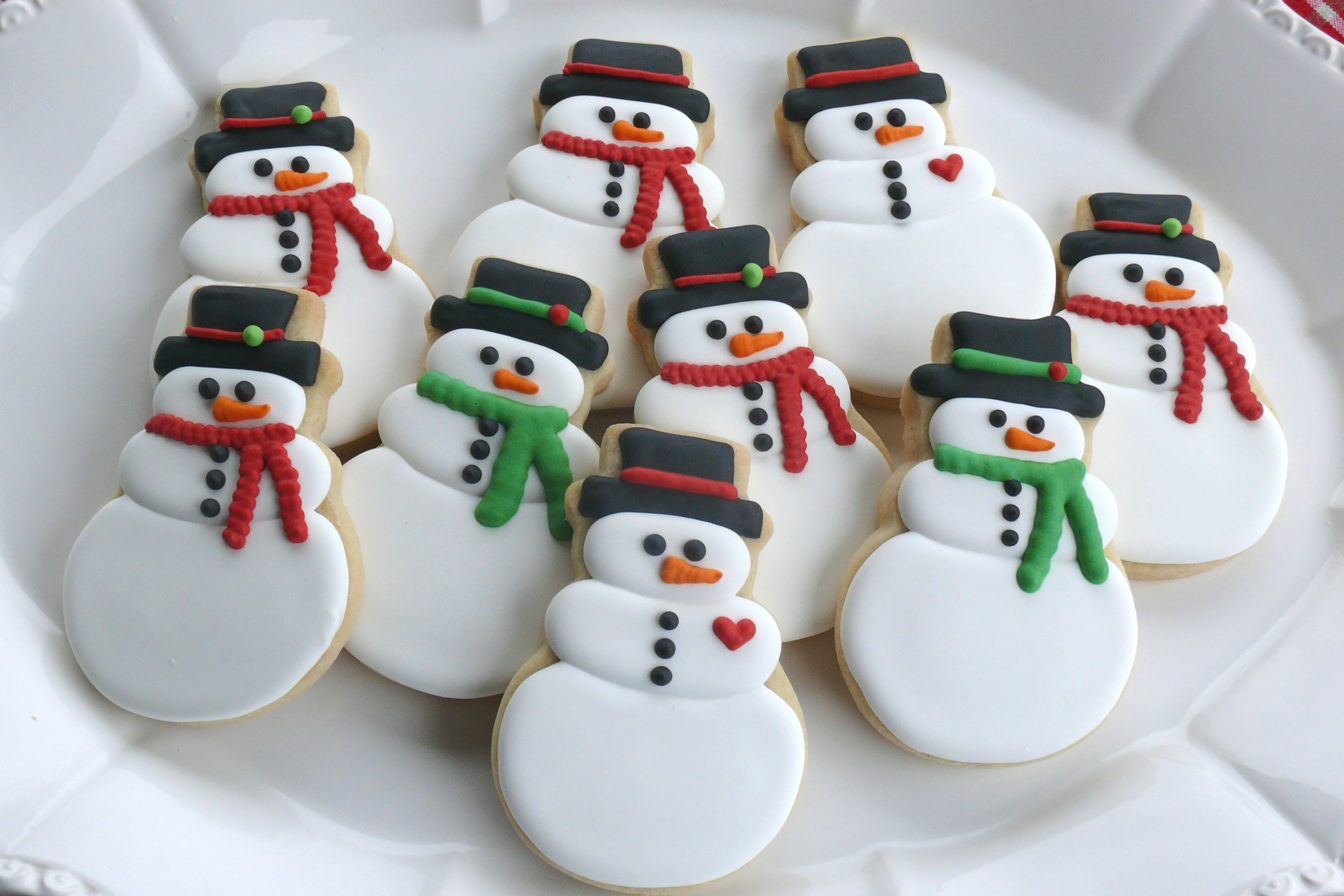 Image result for decorated snowman cookies