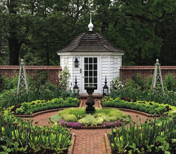 Potager Garden Design Ideas: Classical, Walled Potager (Kitchen) Garden With Potting