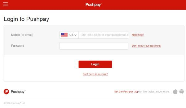 Pushpay Login To Make Mobile Payments Mobile Payments Login Mobile App