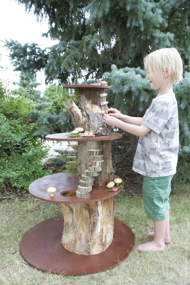 A Household Reunion and a Miniature Play Treehouse Mermag #family #mermag #miniature #reunion #treehouse