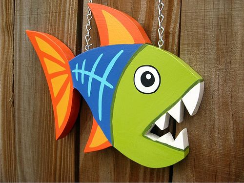 Funky Fish – Wood plaque