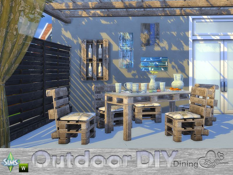 Furniture DIY Outdoor Dining By BuffSumm From The Sims Resource