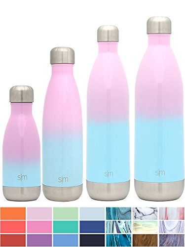34800bf8f4 Simple Modern 17 oz Wave Water Bottle - Stainless Steel Swell Hydro Metal  Flask - Wide