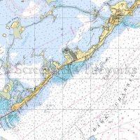 Florida Islamorada Nautical Chart Decor Key West Nautical
