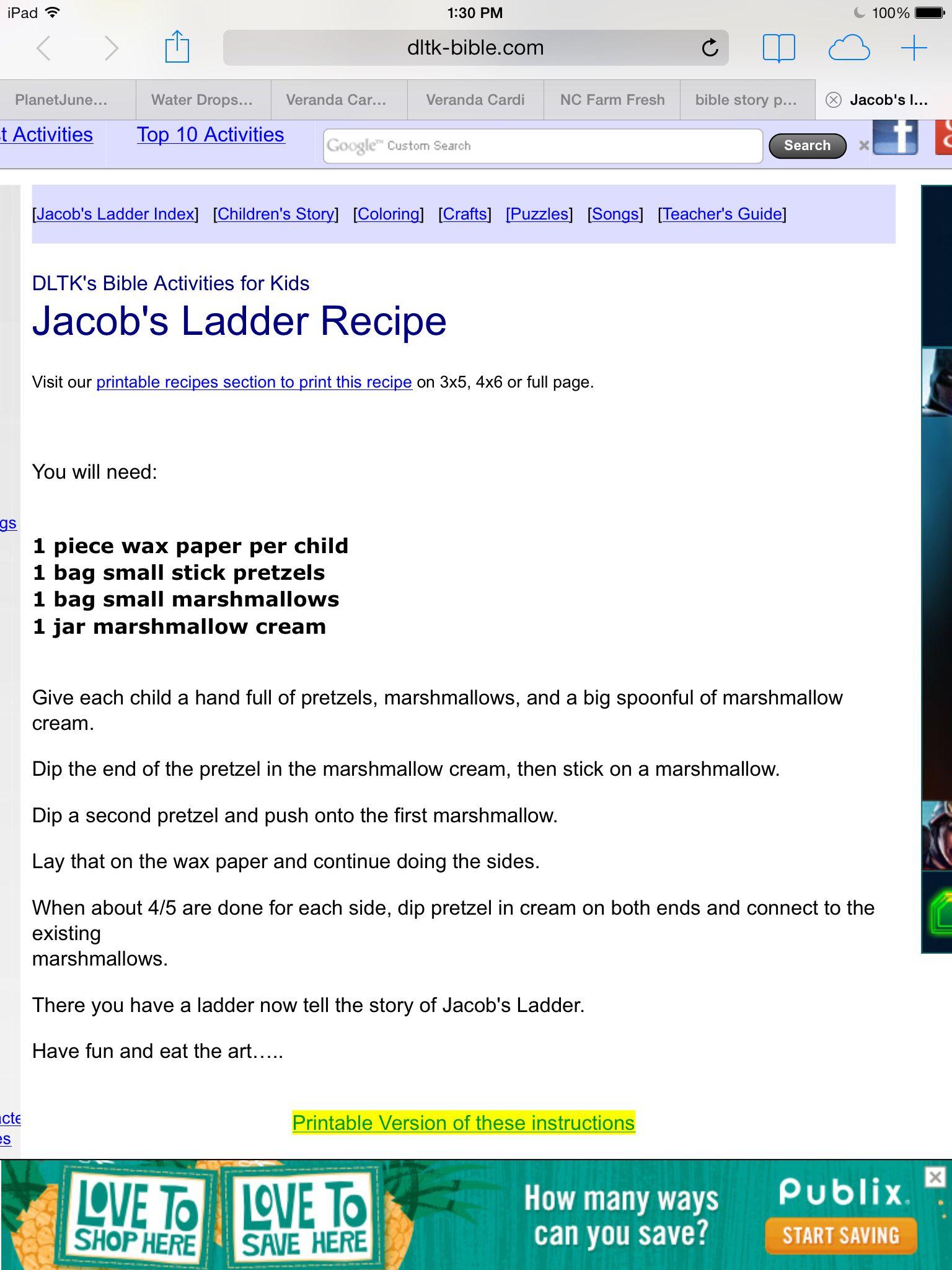 Jacob\'s ladder craft at http://www.dltk-bible.com/old_testament ...