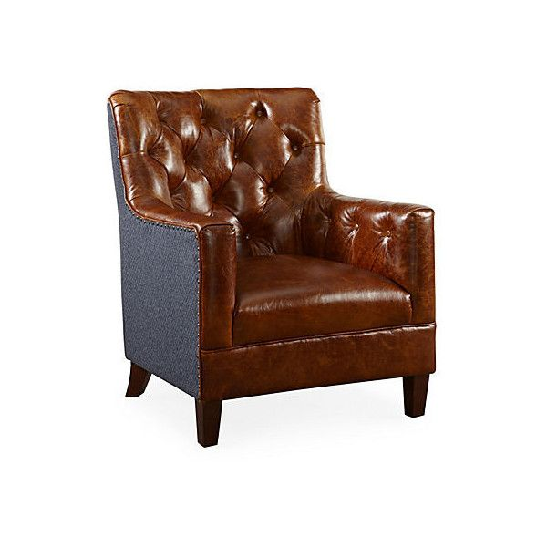 Hartford Tufted Chair Brompton/Navy Club Chairs Found On Polyvore Featuring  Polyvore, Home,