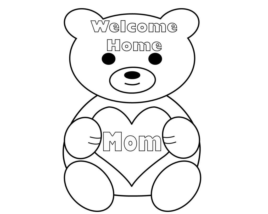 Free Printable Welcome Home Coloring Pages Coloring Pages Welcome Home Banners Welcome Home Cards