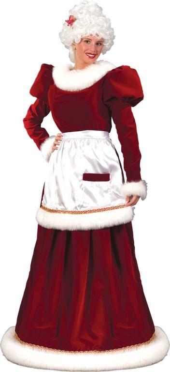 Mrs Claus Plus Size Costume Halloween Costumes Santa Dress Mrs