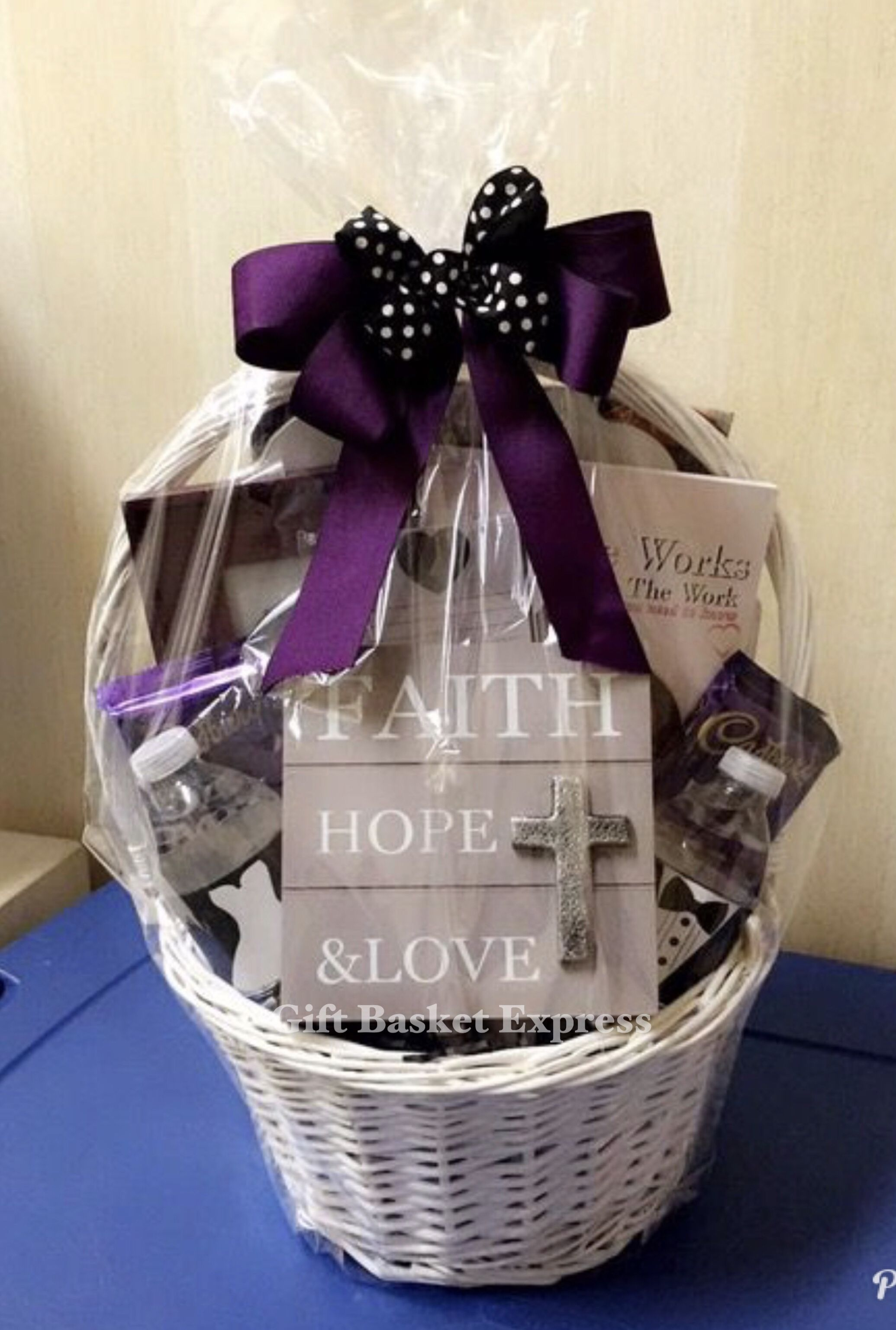 Classy, well thought out wedding gift basket! To order one