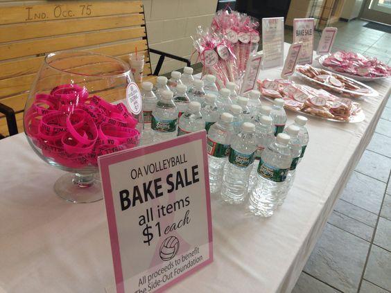 DIG PINK volleyball bake sale: #bakesaleideas DIG PINK volleyball bake sale: #bakesaleideas
