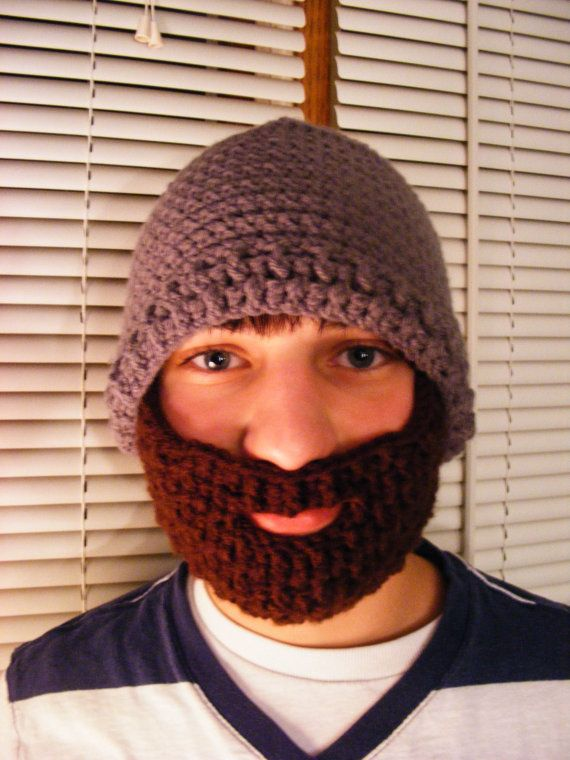 4505bee9503  37.99 Crochet Beard Hat Adult Size Velcro by CozyLittleCreations on Etsy