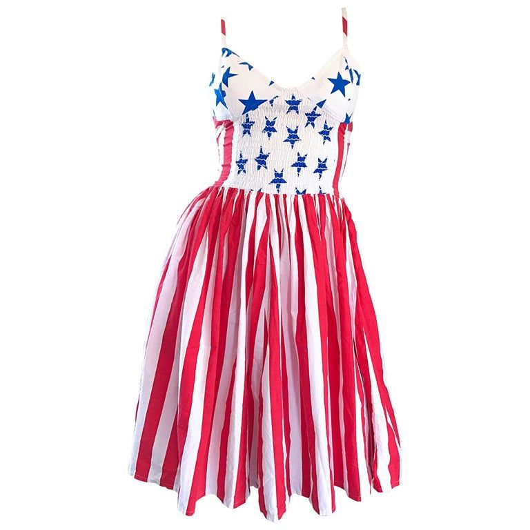 Documented Vintage Boy London 1980s American Flag Hand Painted Cotton 80s Dress Cocktail Dress Vintage 80s Dress Vintage Pink Dress