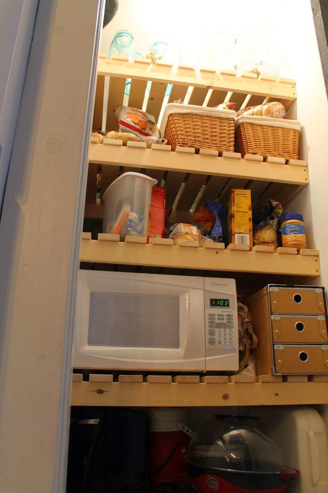 new wood slat pantry shelving, Girl Meets Carpenter on ...