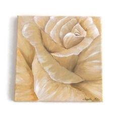 tableau peinture acrylique rose peinte en nuances de beige 2