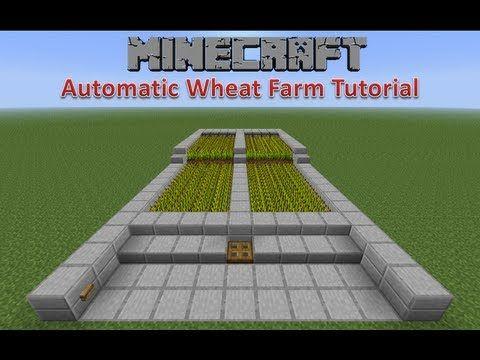 Minecraft Automatic Wheat Farm Tutorial Minecraft Farm Minecraft Redstone Minecraft Tutorial