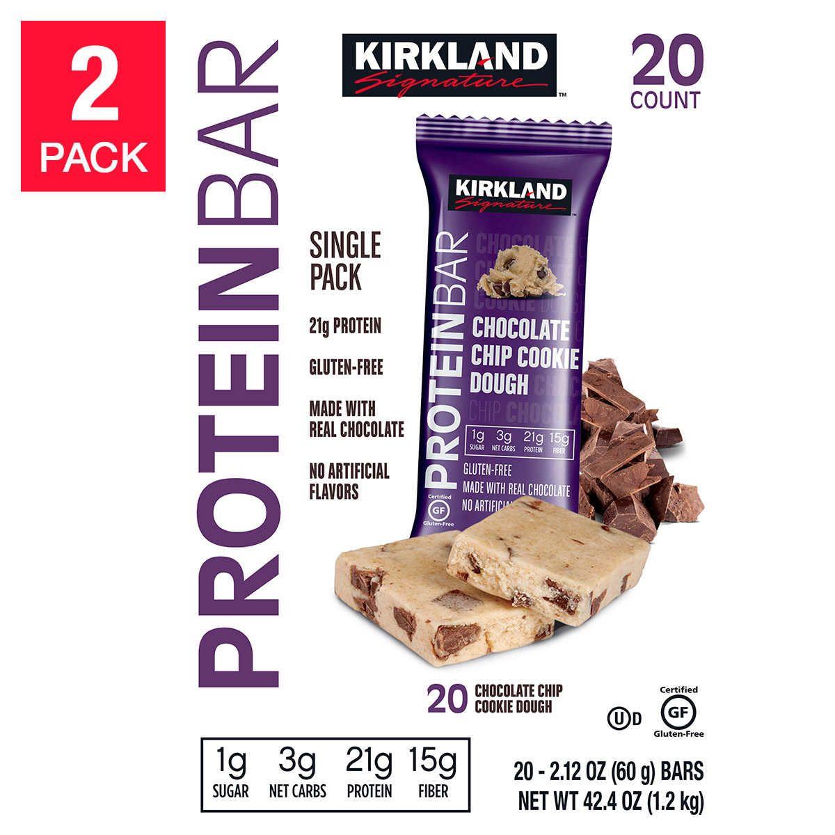 Kirkland Signature Protein Bars, Chocolate Chip Cookie