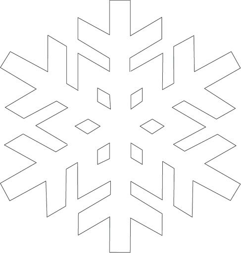 Snowflake Template  Holiday Crafts    Snowflake Template