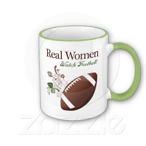 Real women watch football mug