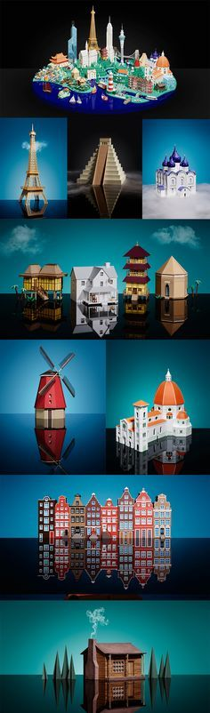 Click for more pics/info! | Canon City: Iconic Buildings and Architecture Handcrafted in Paper by Hattie Newman #paperart #architecture #papercraft #paper #art