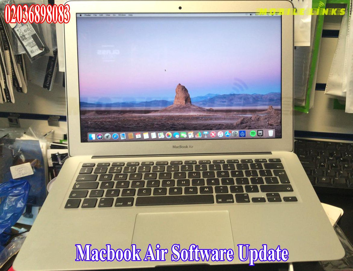 Macbook Air Software Update at Mobile Links E138HJ, East