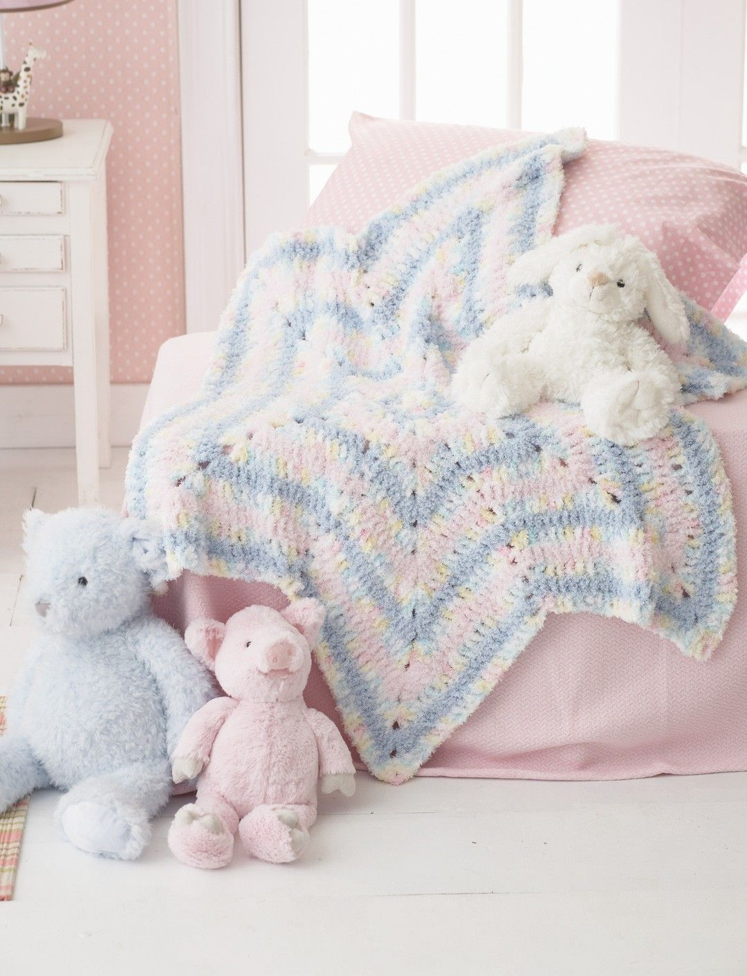 Yarnspirations.com - Bernat Soft Stripes Star Blanket - Patterns ...