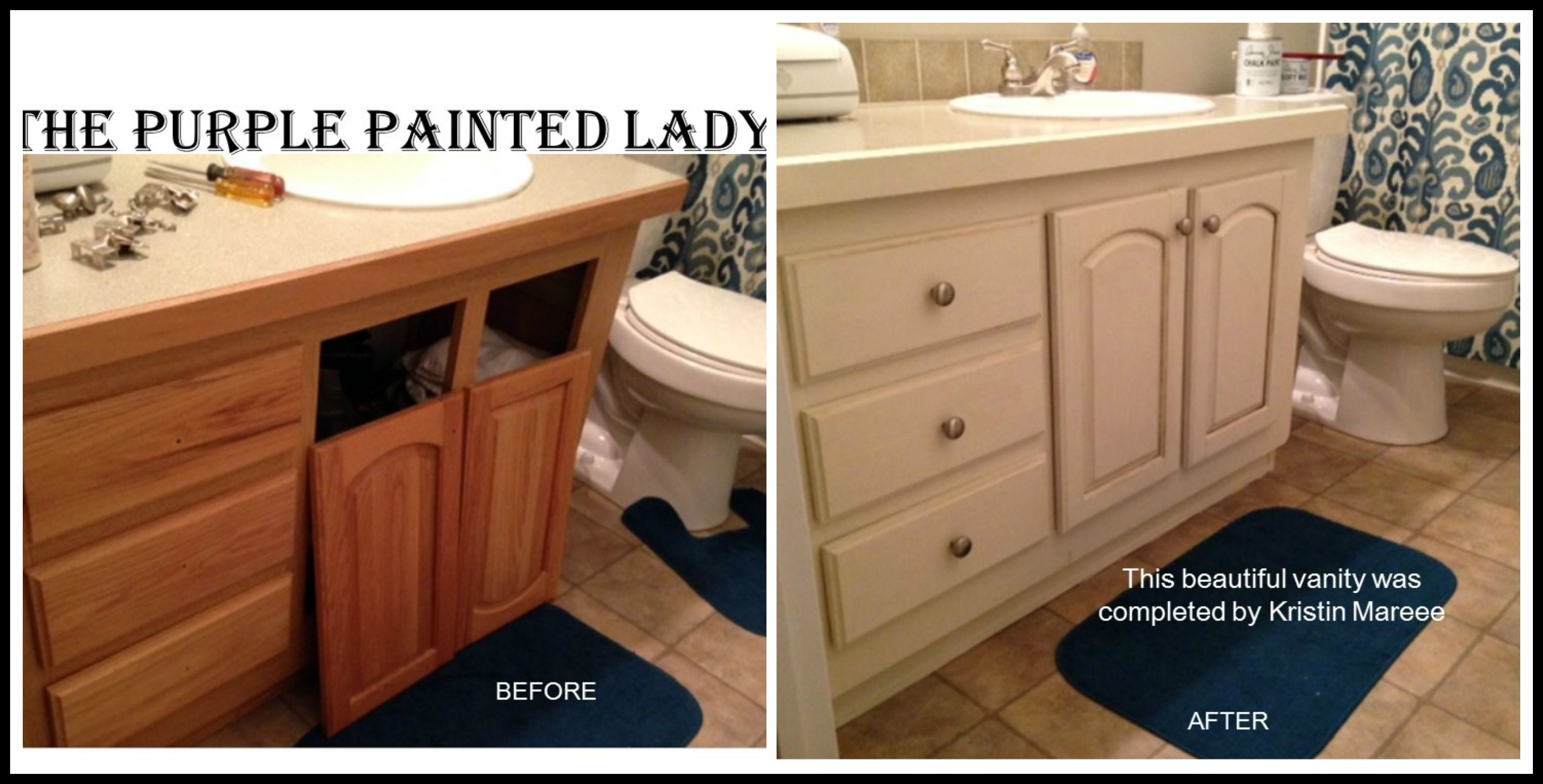 The Purple Painted Lady Painting Bathroom Vanity Chalk Paint®. We sell it  for $34.95
