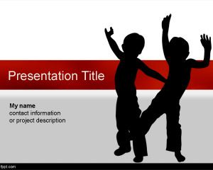 Two Kids Powerpoint Template Babies And Kids Backgrounds For