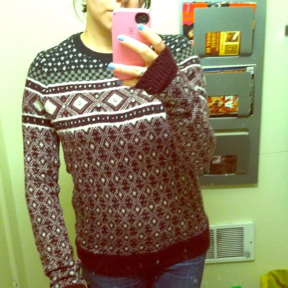 Abercrombie & Fitch fair isle wool sweater Size small but fits ...