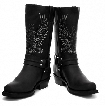 Grinders Black Leather Cowboy Boots Leather Cowboy Boots Leather Western Boots