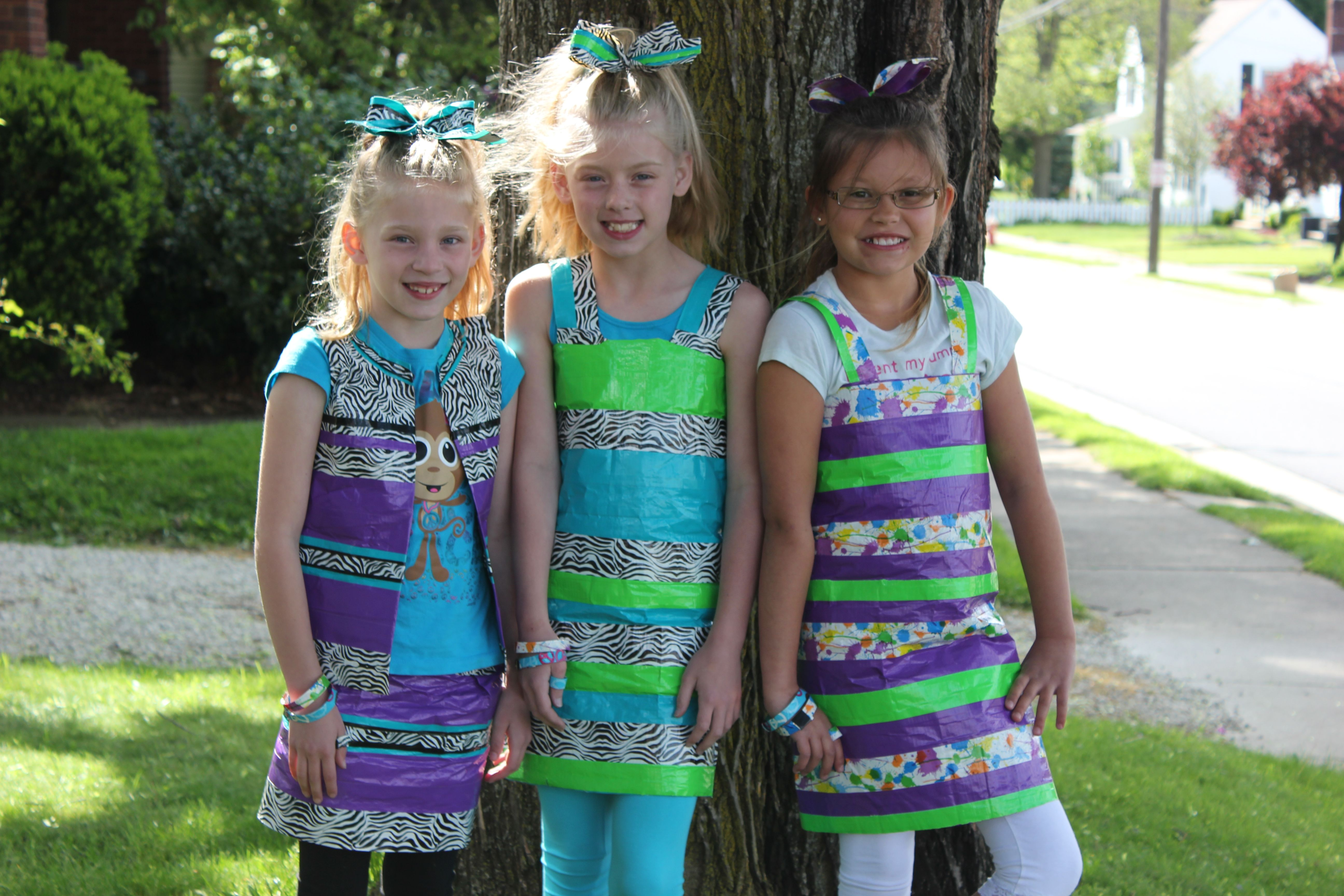 Duct tape dresses, hairbows, bracelets and rings for duct ... | 5184 x 3456 jpeg 1382kB
