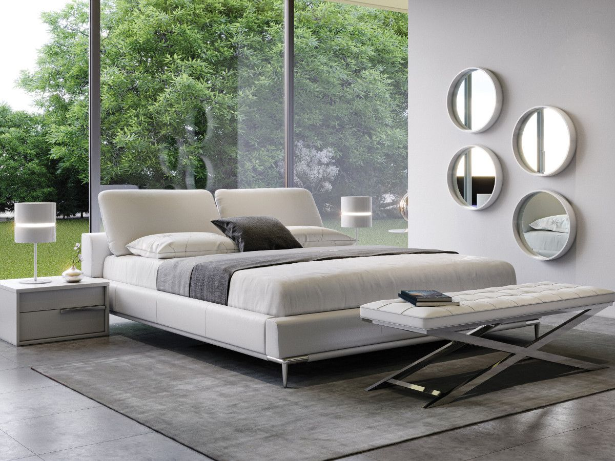 Lay your head to rest on our Movido bed in white