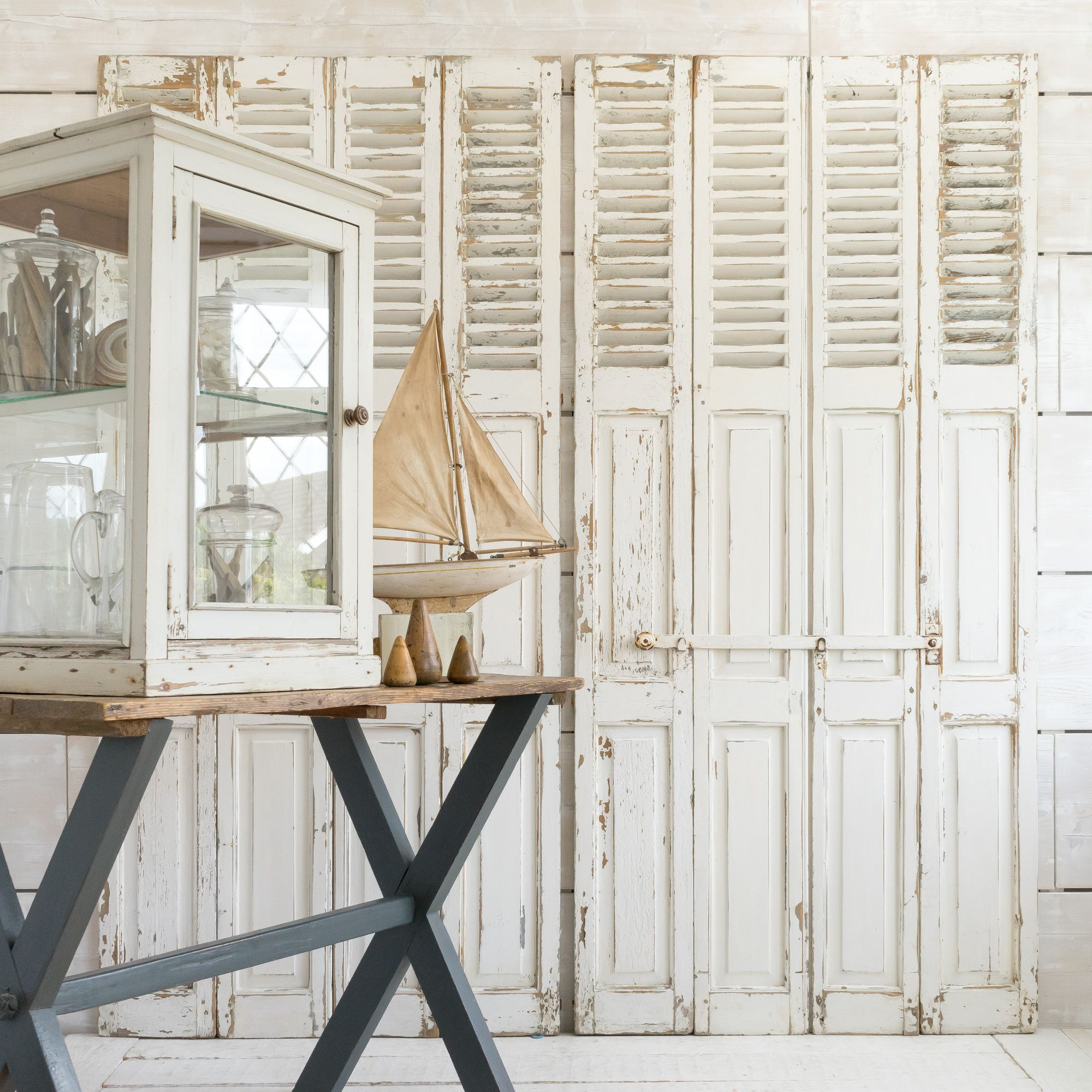 French louvre and panelled shutters Home, garden store