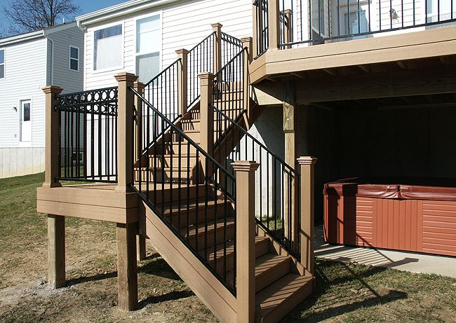 Composite Deck Stairs | Photo Gallery Of Large Composite Decks By Andy  Loschiavo Custom Decks