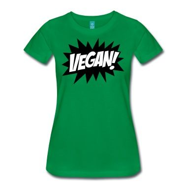 Vegan, Comic Book Style, Green, Explosion,  T-Shirts