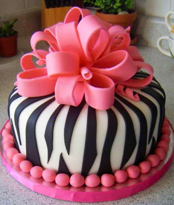 Pretty Pink Zebra Cake Incredibly Awesome Cakes Ideas