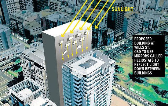 Capturing The Sun Integrating Heliostats Into Buildings Small House Building Design Building